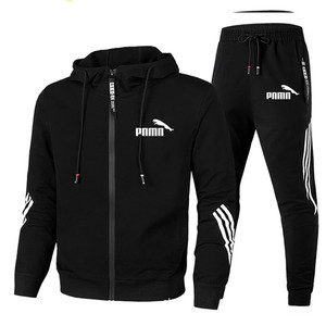 2020 Men Set Zipper Hoodies+Pants Sets Male Tracksuit Men's Casual Fashion Slim Fit Sportswear Male Brand Sweat Shirts Clothing