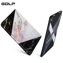 Case For iPad 9.7 2017 2018 New A1822 A1823 A1893, GOLP PU Leather Smart Cover Shockproof Hard PC Back Cover for ipad 2017 case for ipad 9 7 inch 2017 case a1822 a1823 slim crystal clear tpu silicone protective back cover for new ipad 9 7 2018 a1893 case