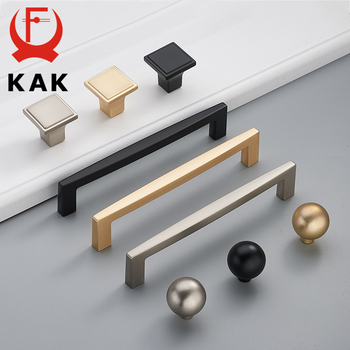 цена на KAK Zinc Alloy Pearl Gold Cabinet Knobs Kitchen Door Handles Drawer Cupboard Door Handle Cabinet Handles for Furniture Hardware