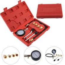 8pcs Automobile Cylinder Pressure Gauge Petrol Engine Compression Tester Gauge Kits Cylinder Pressure Leakage Test Tool signal simulator of electromagnetic hall sensor for automobile engine automobile circuit maintenance testing tool