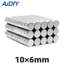AI DIY 5/20/100 Pcs 10 X 6mm Imanes N35 Round Strong Neodymium Rare Earth Wholesale Magnet Mini Small Magnets Disc10*6mm