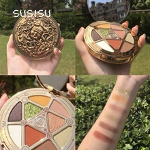 9 Color Eye Shadow Palette Matte Shimmer Glitter Pigment Long-lasting and Waterproof Ins Hot Eye Makeup