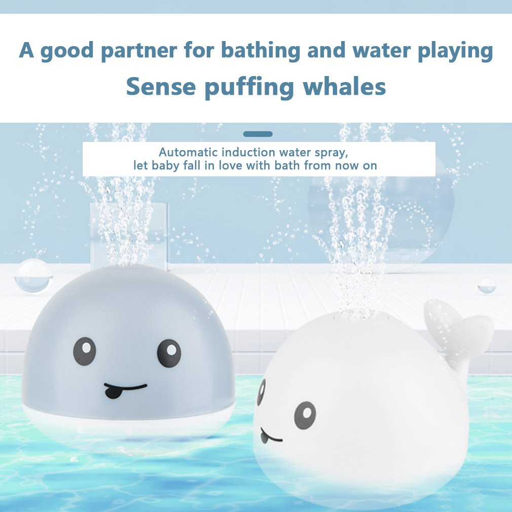 New 2020 Hot Kids Baby Cute Cartoon Whale Floating Spraying Water Bath Toys Spout Spray Shower Bathing Swimming Bathroom Toy