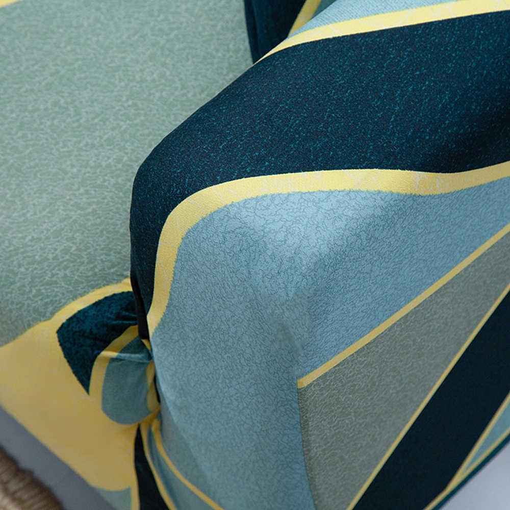 1/2/3/4 Kursi Dicetak Modern Elastis Sofa Cover L Bentuk Peregangan Penutup sofa Pelindung Perabot Penutup