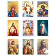 New Diamond 5d Diy Diamond Painting Cross Stitch Religion Jesus Needlework Diamond Mosaic Embroidery Home Decor 5d diamond painting religion jesus full square round diamond embroidery diamond mosaic cross stitch inlay religion home decor