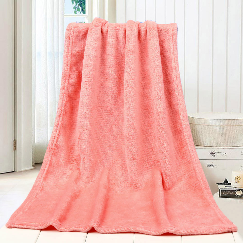 45*65CM Fashion Solid Soft Throw Kids Blanket Warm Coral Plaid Blankets Flannel Nordic Sofa Bed Living Room Blanket Decorative-1