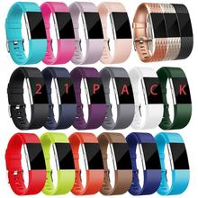 Grid Smart Soft Rubber Sport Watch Strap Band Quick Release Fashion Silicone For Fb Charge 2