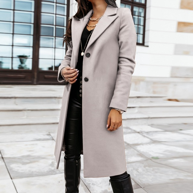 Down Collar Trench Coat 3