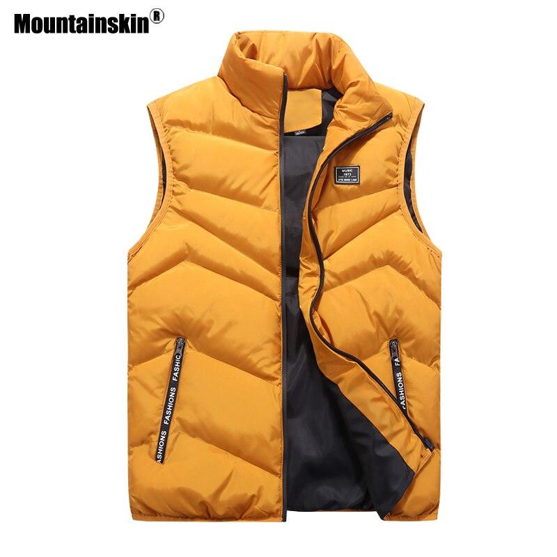 Mountainskin 4xl novos coletes casuais jaqueta masculina sem mangas outono casaco de inverno masculino coletes roupas marca dos homens sa467