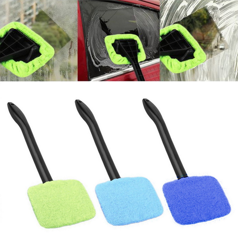 Funcation Portable Cleaning Brush Car Window Cleaning Cloth Windshield Easy Cleaning Withhandle 6 Color