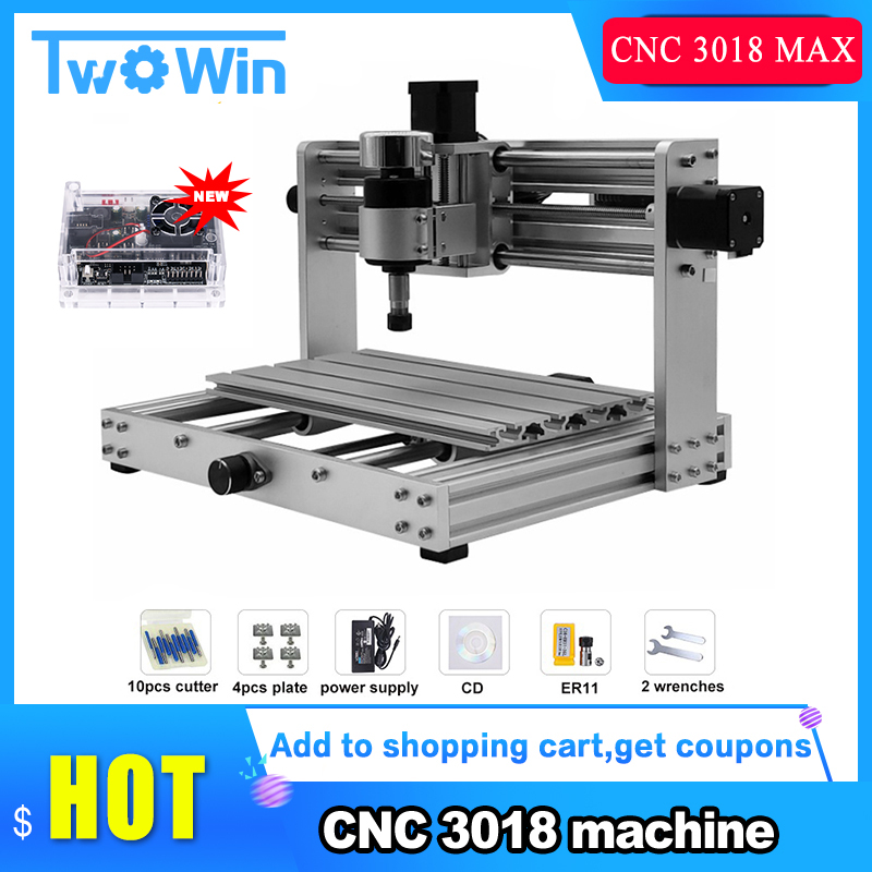 CNC 3018 MAX Engraver,GRBL Control With 200W Spindle DIY CNC Machine,3 Axis PCB Milling Machine,Support Laser Engraving