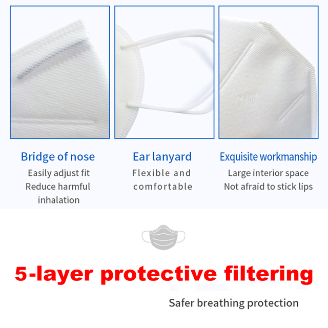 1/10/50pcs KN95 Masks Non-woven Mouth Mask Anti-dust Safety Protective KN95 마스크 マスクFace Cover Anti Flu 4