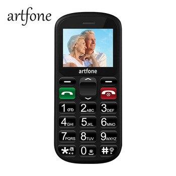 Artfone+GSM+T%C3%A9l%C3%A9phone+Portable+Senior+D%C3%A9bloqu%C3%A9+avec+Grandes+Touches%2C+Bouton+SOS+Dual-SIM+et+Lampe+Torche