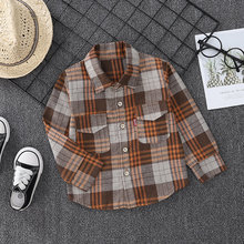 Spring Autumn Cotton Baby Boy Clothes Children Long sleeve shirt plad top tees Infant Out Kids Fashion Toddler Casual Clothing