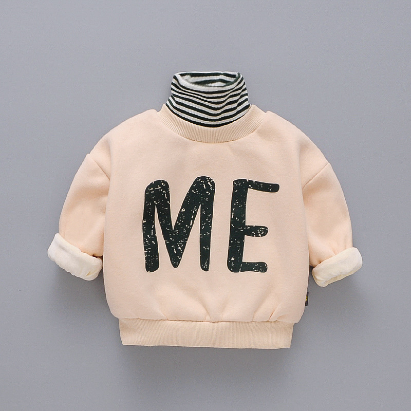 Popodion Winter Clothes Plus Velvet Thickening Children's Turtleneck Wweaters for Boys and Girls CHD20355 2