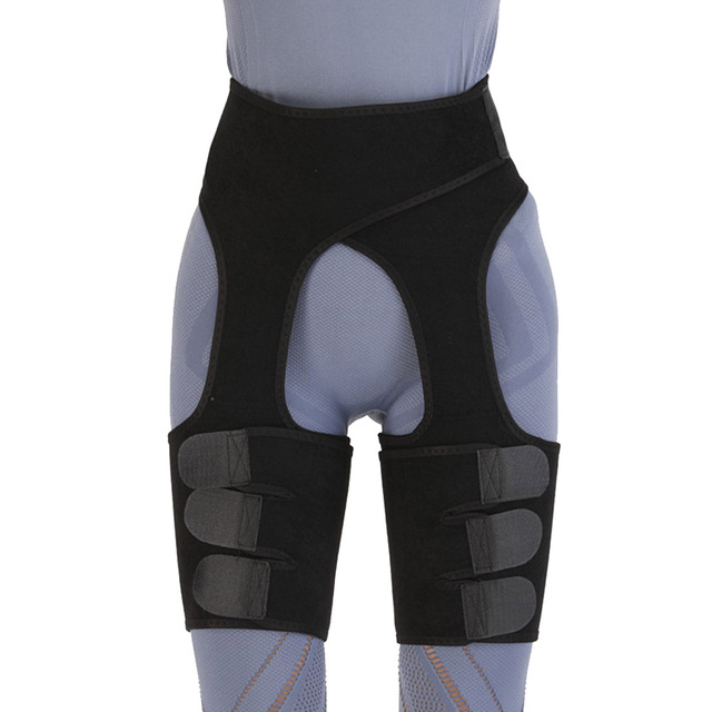 Fat Burning Yoga Trainer Butt Lift Sweat Shapewear Fitness Leg Shapers Waist Thigh Trimmer Adjustable For Women Slimming Belt 4