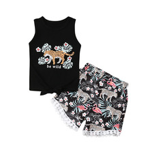 1-6Y Toddler 2PCS Baby Girls Clothes Set Outfits Floral Top