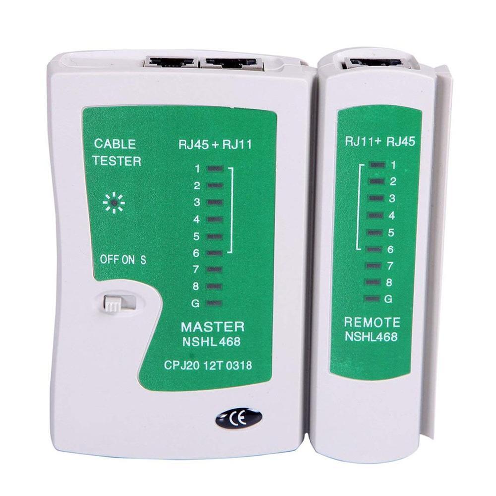 Network Lan Cable Tester Test Rj45 Rj 11 Cat5 Utp Ethernet Tool Cat5 6 E Rj11 8P Portable Network Cable Tester|Networking Tools| |  - title=