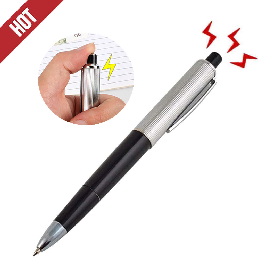 Prank Toy Electric Shock Pen Tricky Funny Gadgets Gags Joke Novelty Kids Toy Utility Creative Game Gift Zabawki Juguetes