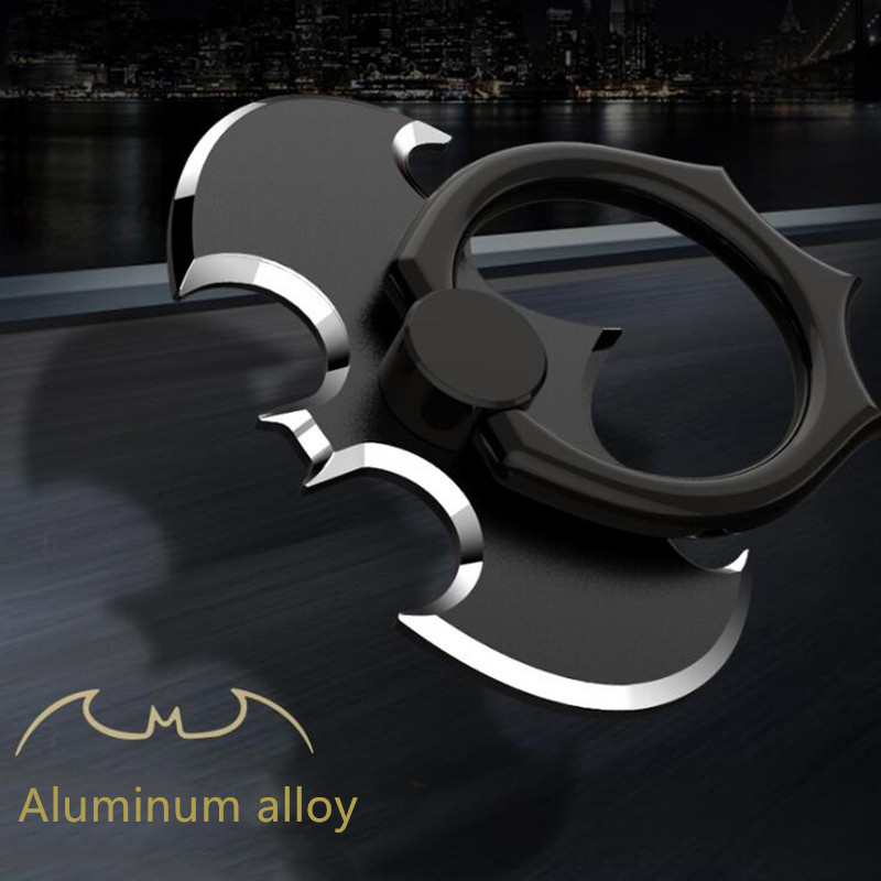 Luxury Batman Aluminum Metal Universal Finger Ring Smartphone Mobile Cell Phone Hand Desk Stand Socket For Iphone For Xiaomi