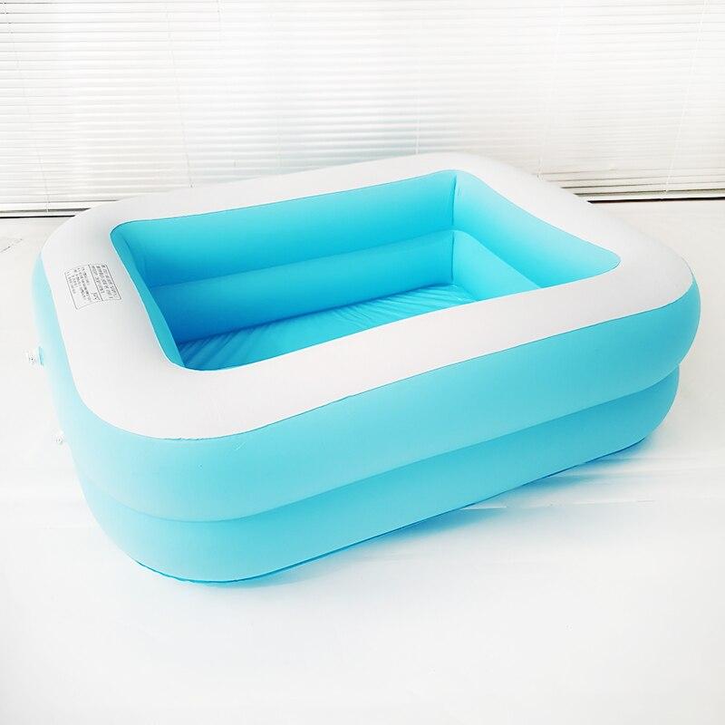 Enfant bébé baignoire bébé piscine dessin animé monde sous-marin motif imprimé gonflable aéré carré nouveau-né piscine