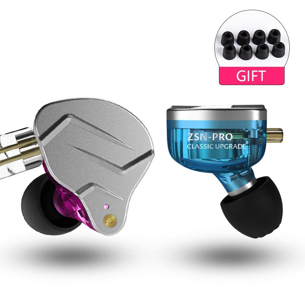 AK KZ ZSN Pro 1BA+1DD Hybrid In Ear Earphone HIFI DJ Monito Running Sport Earphone Headphone Earbud ZS10 ZST ZS6 BA10 AS10 ZSX