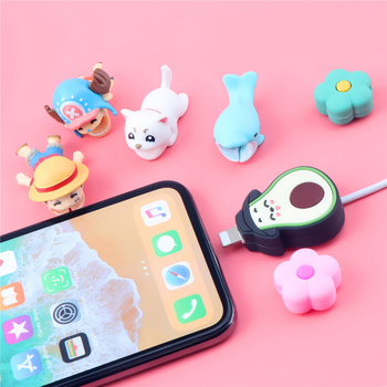 Cartoon Luffy Animal Cable Bite Protector Chopper Model Organizer Holder Cute Sauron For iPhone11PROMAX XS Cable Winder Cover image