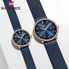 Couple Watch NAVIFORCE Mens Watch Simple Luxury Quartz Wrist