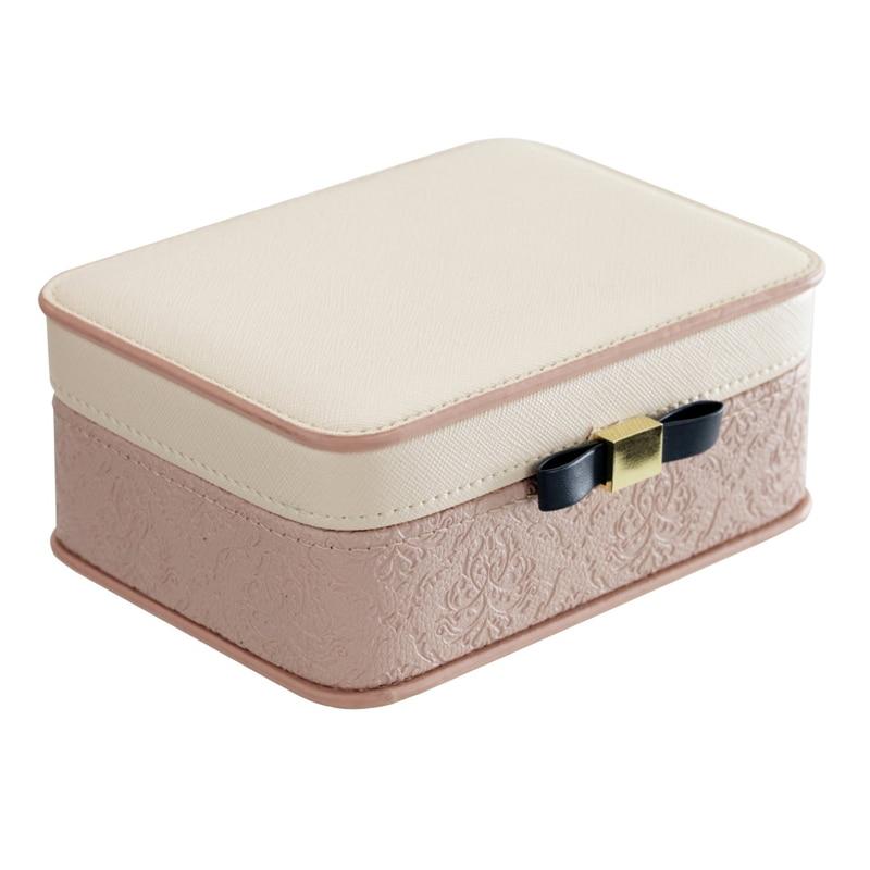 Boîte Portable petite taille haute qualité raffinement Simple Net rouge européen petit luxe artisanat bijoux réception boîte