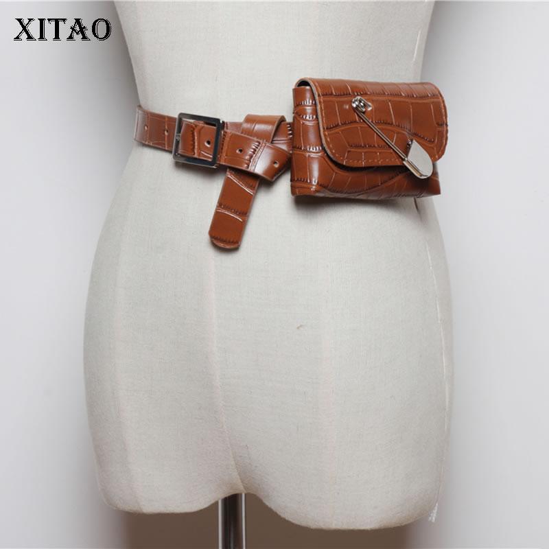 XITAO Vintage Women Cummerbunds Fashion New 2019 Autumn Wild Detachable Mini Personality Pouch Elegant Cummerbunds GCC2236