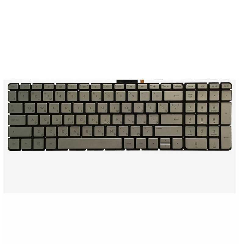 كمبيوتر محمول روسي جديد لوحة مفاتيح إتش بي بافيليون 15-as 15-as000 15t-as000 15t-as100 15-as014wm الفضة RU لوحة المفاتيح الخلفية