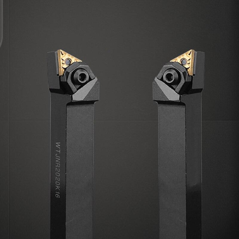 GULING CNC Cylindrical Shank 93 Degree Turning Tool MTJNR2020K16 / 2525M16 / 3232P Double Sided Triangular Shank