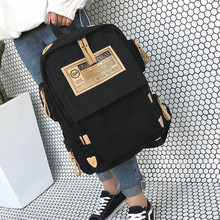 Litthing Fashion Backpack Women Shoulder Bag School Bags Teenager Girls Boys Casual Solid Backpack School Mochila Rucksack