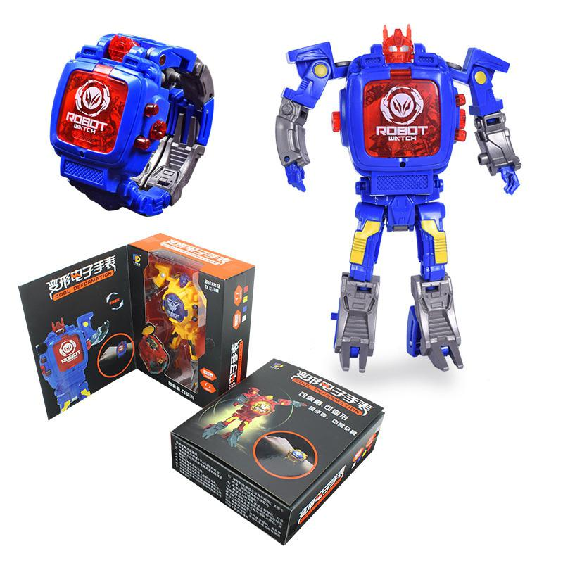 Creative Manual Transformation Robot Toys Children Electronic Watch Intelligence Development Deformed Robot Toy