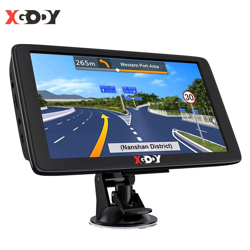 Xgody 7 дюймов грузовик GPS навигатор сенсорный экран от солнца спутниковой навигации автомобиля GPS навигацию по беспроводной сети через Wi-Fi 256 м...