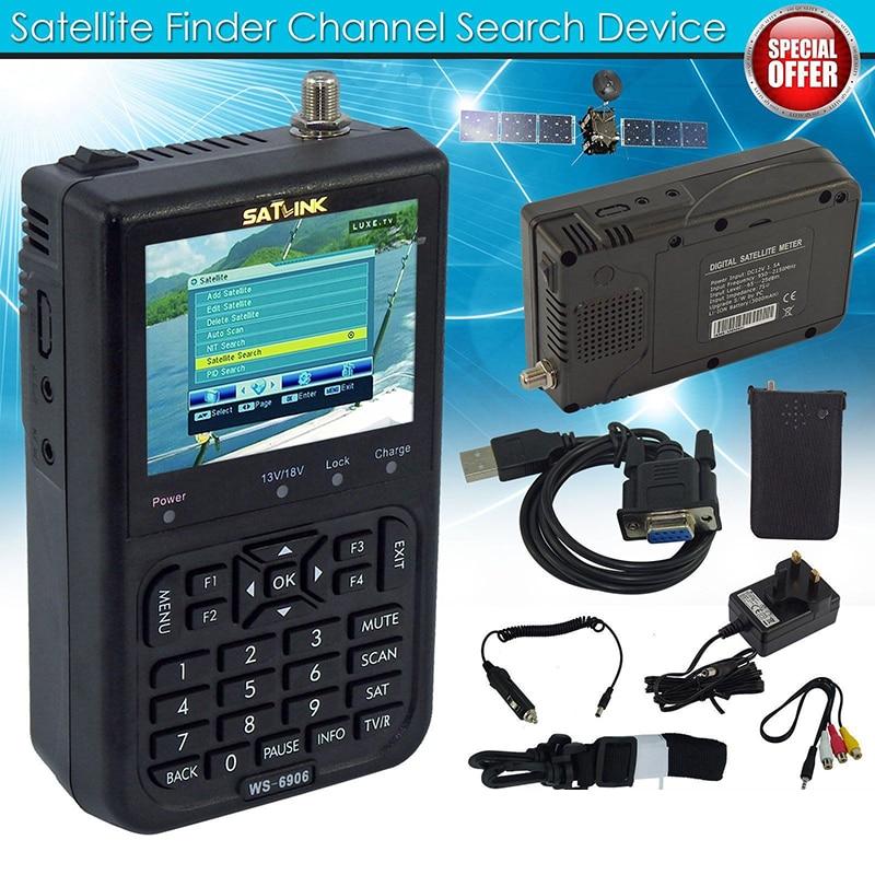 Digital Satellite Meter Signal Finder SATlink WS-6906 DVB-S FTA Data Satellite Signal Meter Finder 3.5