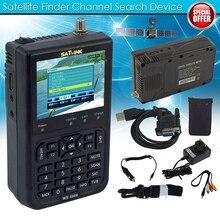 """디지털 위성 측정기 신호 파인더 SATlink WS 6906 DVB S FTA 데이터 위성 신호 측정기 파인더 3.5 """"LCD 미국 영국 EU AU 플러그"""