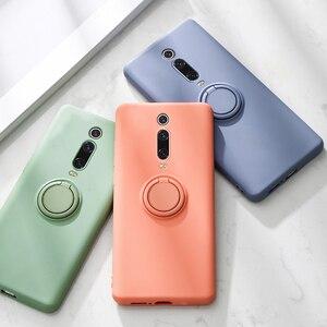 Silicone Case For Xiaomi Mi 9T Pro 10 8 Lite 9 Mi8 Mi9 M9T Mi10 Redmi K20 Pro Phone Soft Silicon Slim Stand Ring Holder Cover On(China)