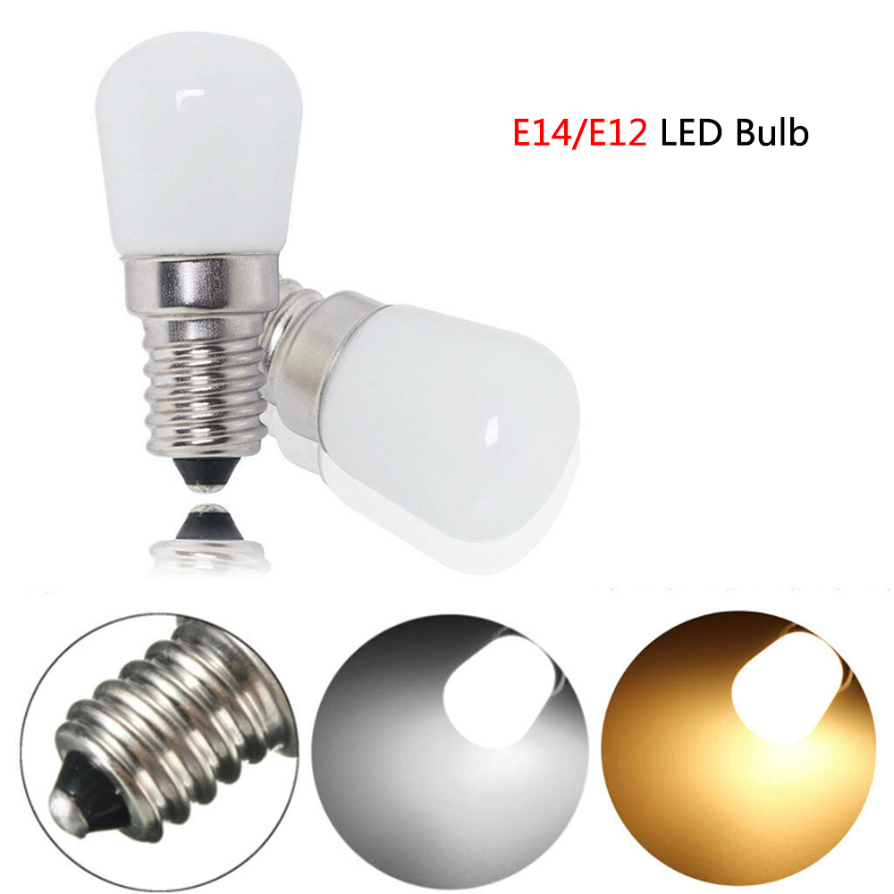 <font><b>Mini</b></font> AC 220V <font><b>LED</b></font> bulb <font><b>E14</b></font>/E12 light bulb SMD2835 <font><b>LED</b></font> <font><b>Refrigerator</b></font> <font><b>lamp</b></font> 2W Screw bulb for <font><b>Refrigerator</b></font> freezer <font><b>LED</b></font> home lighting image