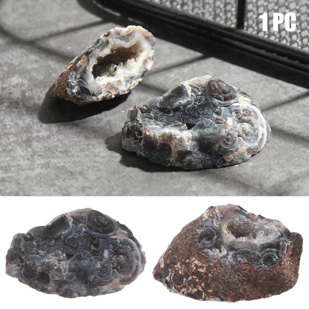 1PC 天然瑪瑙 Geodes クリスタルクラスタヒーリングストーン Drusy クォーツスライスグッズ標本 DIY ミネラル鉱石生ジェムストーン