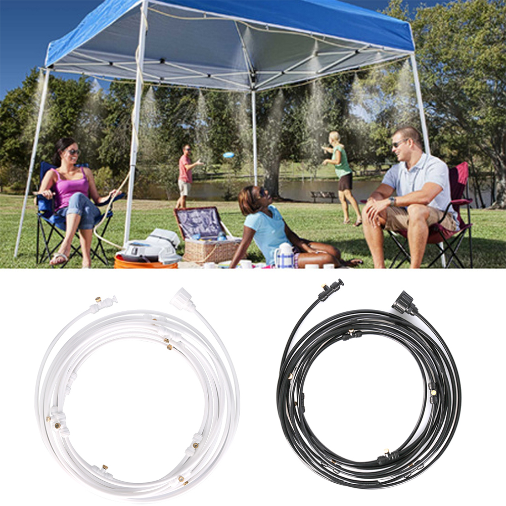 H6b8539d7891e4bd69e70a806a4c2482fQ Outdoor Misting Cooling System Kit For Greenhouse Garden Patio Waterring Irrigation Mister Line 6M-18M System Caliber Is 0.4mm