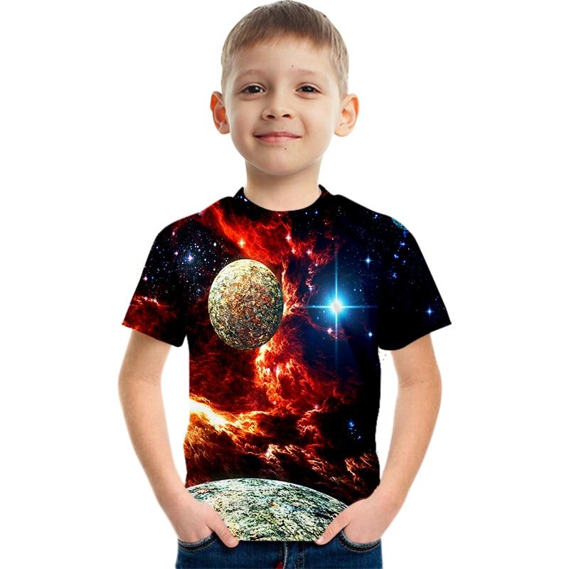Boys' Fashion Planet-Design Tshirts