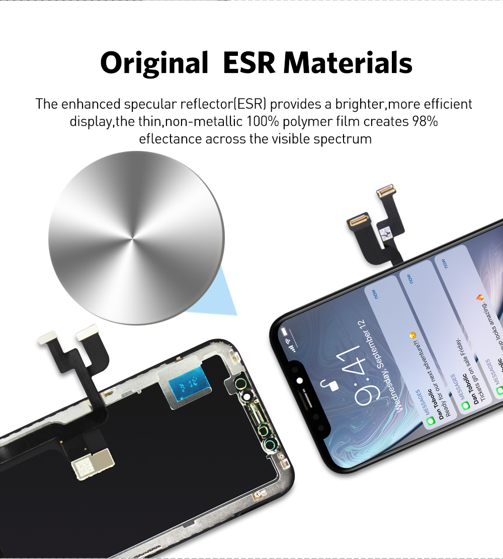 H6b855277d4d64b7e905e298baf50b637P AAA+++ For iPhone X OLED With 3D Touch Digitizer Assembly No Dead Pixel LCD Screen Replacement Display For iPhoneX LCD with Gift