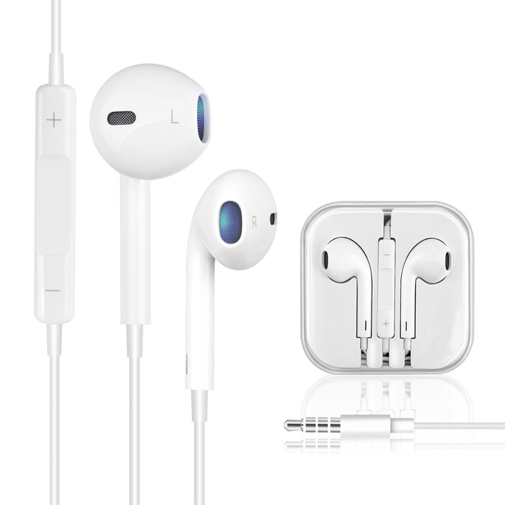 Stereo Sound 3.5mm Jack In-Ear Earphone for iPhone 6S 6 Plus 5S <font><b>5</b></font> SE 4S iPad Wire Control Earbud with Microphone Music Earphones image