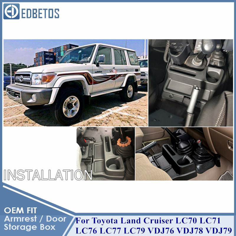 Land Cruiser LC70 LC71 LC76 LC77 LC79 VDJ76 VDJ78 VDJ79 Armrest Storage Glove Box For Toyota Land Cruiser Car Organizer