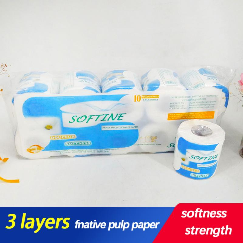 Toilet Paper 3-Ply ThickToilet Paper Home Kitchen Toilet Tissue Soft Skin-friendly Paper Silky Smooth Soft Professional TSLM1