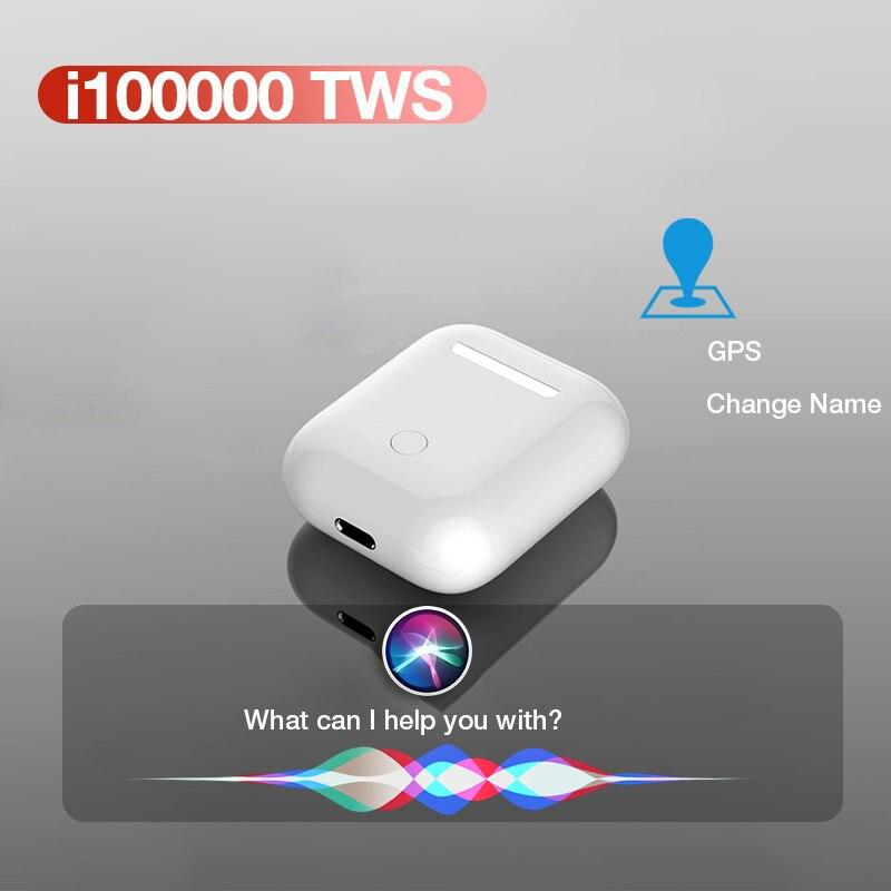 2020 New I100000 Tws Bluetooth Earphone Air 2 Sport Wireless Headphones Stereo Earbuds Headset In-ear Sensor PK I90000 Pro Tws