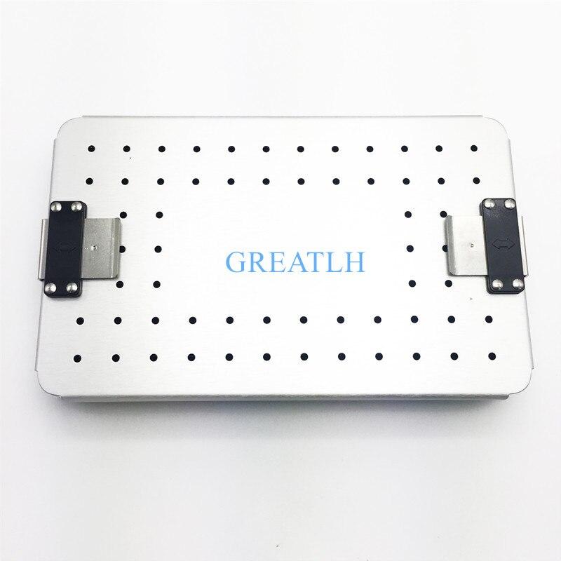 Instrumentos oftálmicos esterilização caixa bandeja de liga