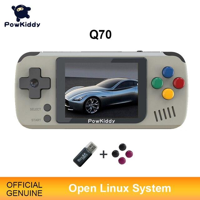 Powkiddy Q70 Open System Video Spiel Konsole Retro Handheld, 2,4 zoll Bildschirm Tragbare Kinder Spiel Spieler Mit 16GB Speicher Karte
