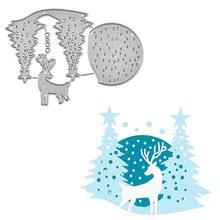 GJCrafts Deer and Tree Metal Cutting Dies for Craft Scrapbooking Embossing Stencil DIY Die Cut Card Decoration